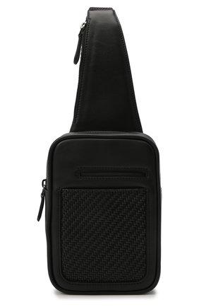 Мужской кожаный рюкзак ERMENEGILDO ZEGNA черного цвета, арт. LHPTA-C1609P | Фото 1