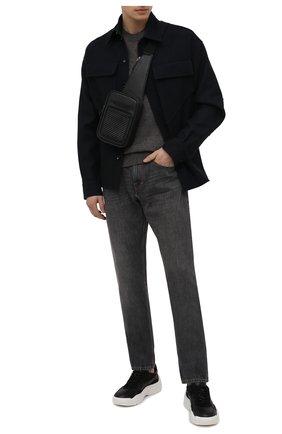 Мужской кожаный рюкзак ERMENEGILDO ZEGNA черного цвета, арт. LHPTA-C1609P | Фото 2