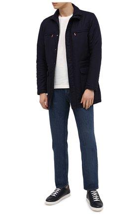 Мужская куртка из шелка и кашемира KITON темно-синего цвета, арт. UW0891MV07T80 | Фото 2