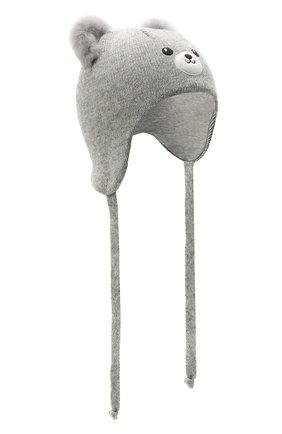 Детского шерстяная шапка CHOBI серого цвета, арт. WH-3090 | Фото 1