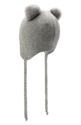 Детского шерстяная шапка CHOBI серого цвета, арт. WH-3090 | Фото 2