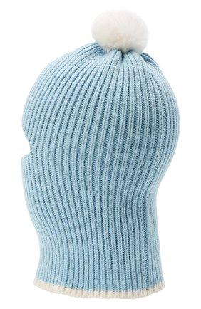 Детского хлопковая шапка-балаклава CHOBI голубого цвета, арт. WH-3012 | Фото 2