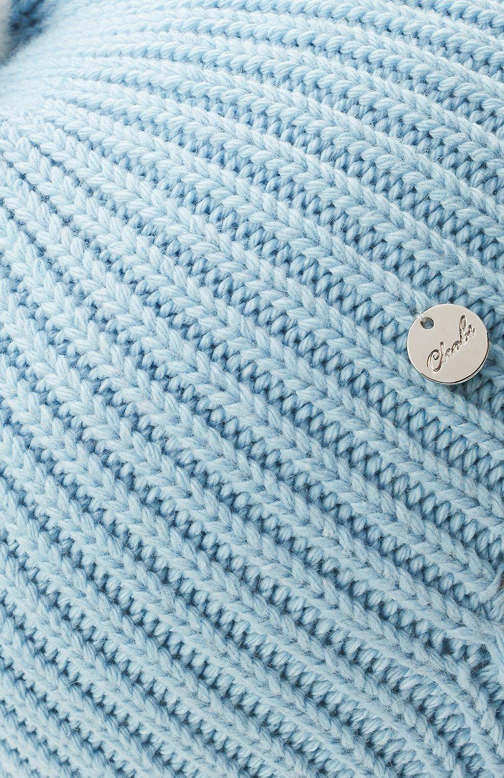 Детского хлопковая шапка-балаклава CHOBI голубого цвета, арт. WH-3012   Фото 3 (Материал: Текстиль, Синтетический материал, Хлопок)