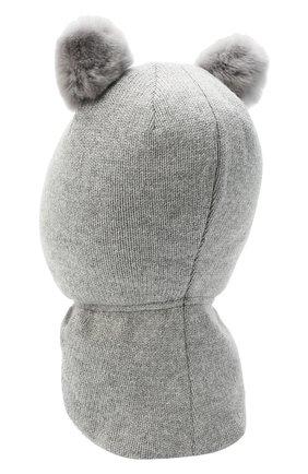 Детского шерстяная балаклава CHOBI серого цвета, арт. WH-3003 | Фото 2