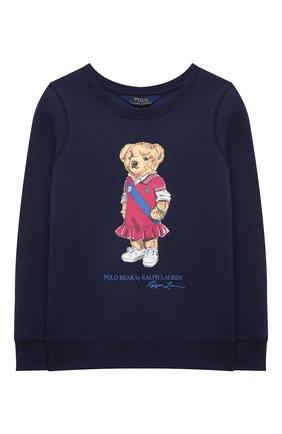 Детский хлопковый свитшот POLO RALPH LAUREN синего цвета, арт. 313837228 | Фото 1