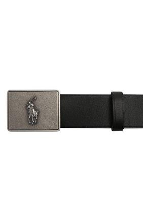 Детский кожаный ремень POLO RALPH LAUREN черного цвета, арт. 400785823 | Фото 3