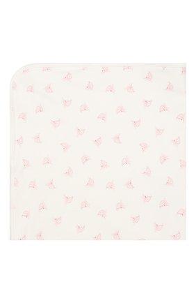 Детского хлопковое одеяло POLO RALPH LAUREN белого цвета, арт. 310833437 | Фото 1