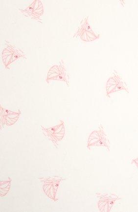 Детского хлопковое одеяло POLO RALPH LAUREN белого цвета, арт. 310833437 | Фото 2