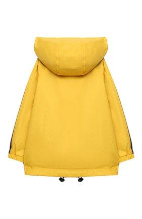 Детская двусторонняя ветровка FENDI желтого цвета, арт. JUA092/AEYC/3A-6A | Фото 2