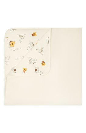 Детского хлопковое одеяло FENDI белого цвета, арт. BUJ175/ST8 | Фото 1
