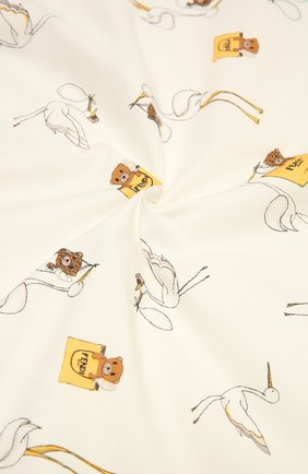 Детского хлопковое одеяло FENDI белого цвета, арт. BUJ175/ST8 | Фото 2