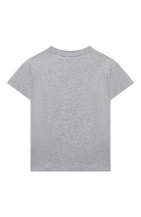 Детская хлопковая футболка FENDI серого цвета, арт. JUI025/7AJ/3A-6A | Фото 2