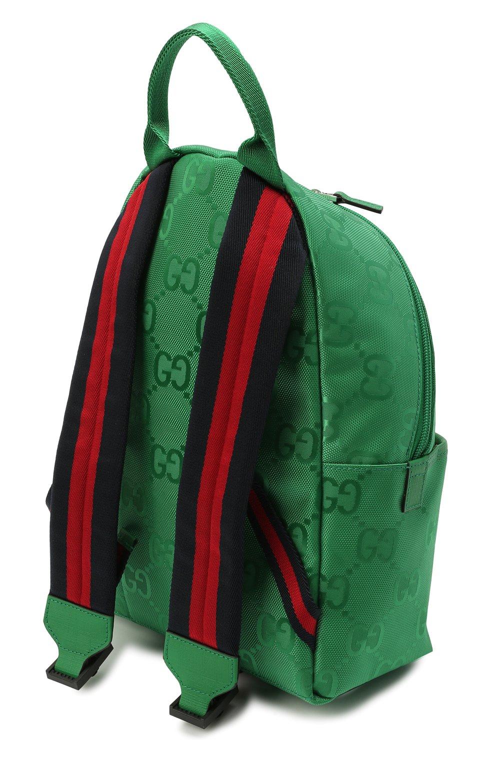 Детская рюкзак GUCCI зеленого цвета, арт. 271327/H9HRN | Фото 3 (Материал: Текстиль)