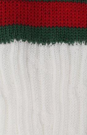 Детские хлопковые носки GUCCI белого цвета, арт. 415949/3K111 | Фото 2 (Материал: Хлопок, Текстиль)