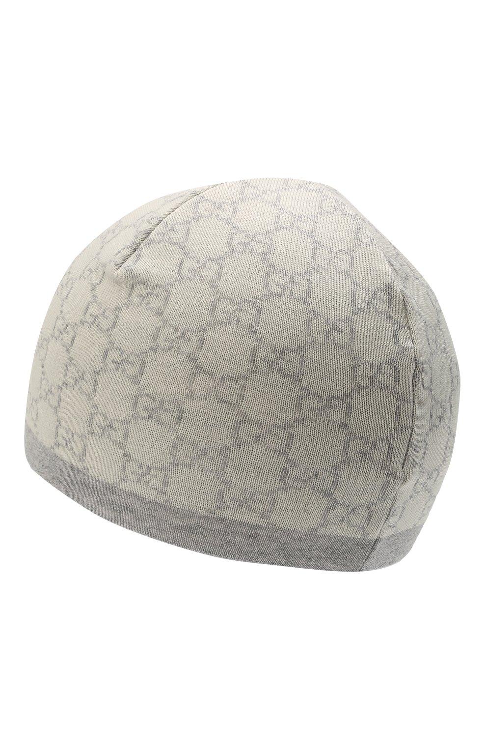Детского шерстяная шапка GUCCI серого цвета, арт. 418609/4K206   Фото 2 (Материал: Шерсть)