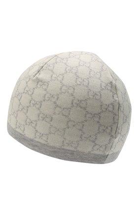 Детского шерстяная шапка GUCCI серого цвета, арт. 418609/4K206 | Фото 2