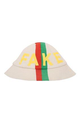 Детское комплект из комбинезона и панамы GUCCI белого цвета, арт. 645499/XJC7Q | Фото 5