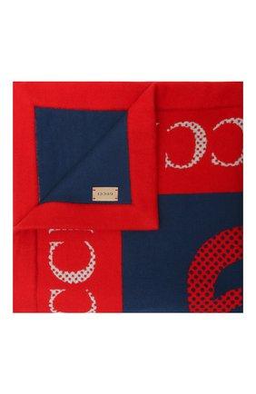 Детского шерстяное одеяло GUCCI разноцветного цвета, арт. 645520/3K200 | Фото 1