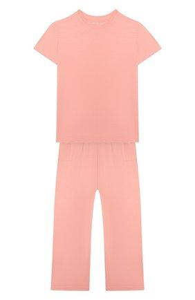 Детская пижама DEREK ROSE оранжевого цвета, арт. 7251-LARA001/3-12 | Фото 1