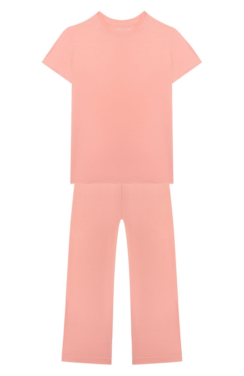 Детская пижама DEREK ROSE оранжевого цвета, арт. 7251-LARA001/13-16   Фото 1