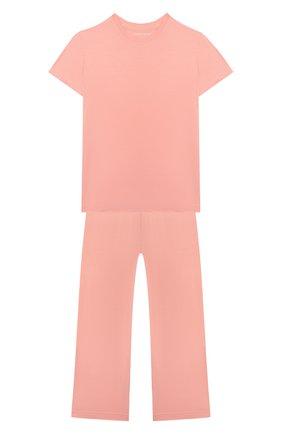Детская пижама DEREK ROSE оранжевого цвета, арт. 7251-LARA001/13-16 | Фото 1
