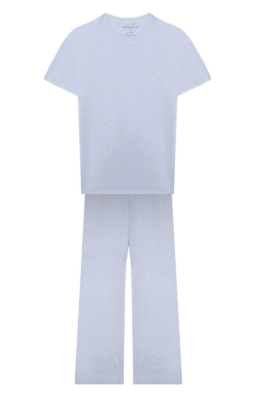 Детская пижама DEREK ROSE голубого цвета, арт. 7251-ETHA001/3-12 | Фото 1