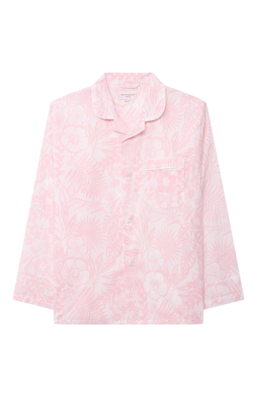 Детская хлопковая пижама DEREK ROSE розового цвета, арт. 7025-LEDB042/3-12 | Фото 2
