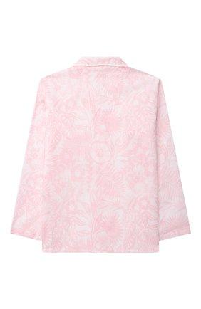 Детская хлопковая пижама DEREK ROSE розового цвета, арт. 7025-LEDB042/3-12 | Фото 3