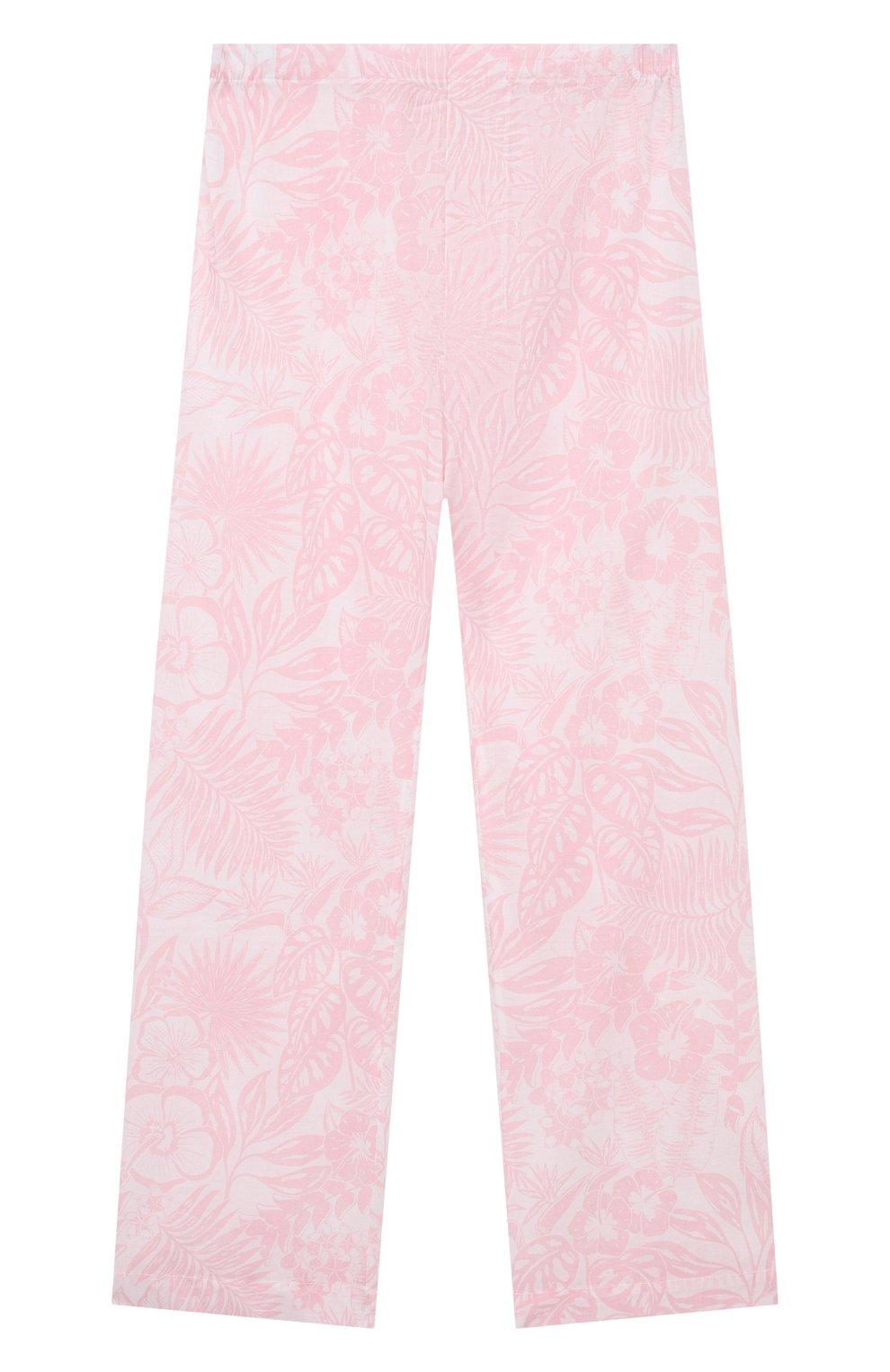 Детская хлопковая пижама DEREK ROSE розового цвета, арт. 7025-LEDB042/3-12 | Фото 4
