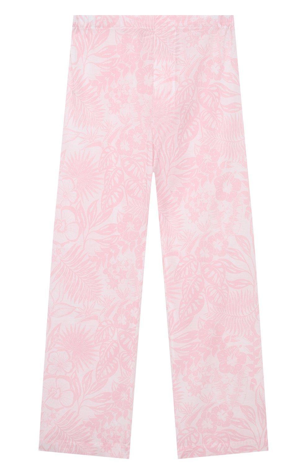 Детская хлопковая пижама DEREK ROSE розового цвета, арт. 7025-LEDB042/3-12 | Фото 5
