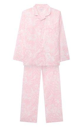 Детская хлопковая пижама DEREK ROSE розового цвета, арт. 7025-LEDB042/13-16 | Фото 1