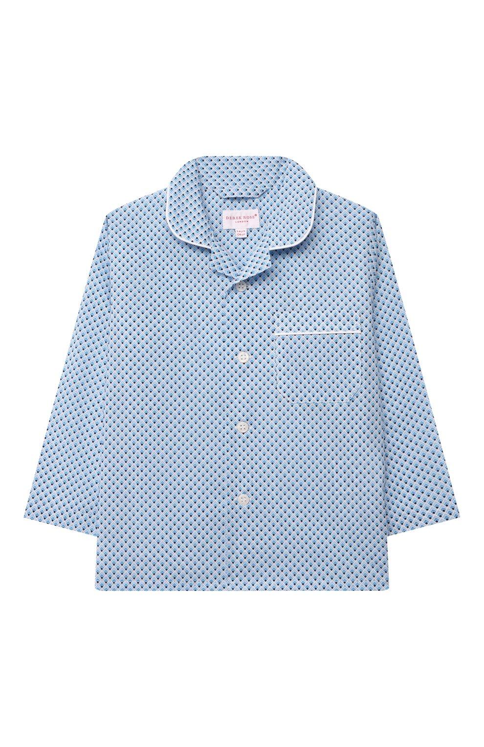 Детская хлопковая пижама DEREK ROSE голубого цвета, арт. 7025-LEDB040/3-12 | Фото 2