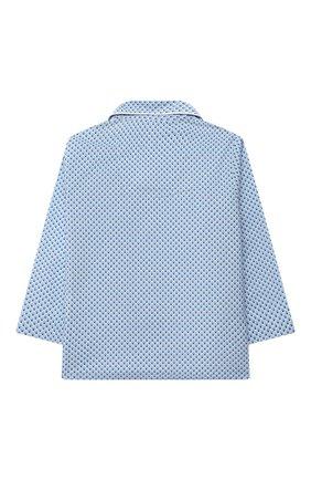 Детская хлопковая пижама DEREK ROSE голубого цвета, арт. 7025-LEDB040/3-12 | Фото 3