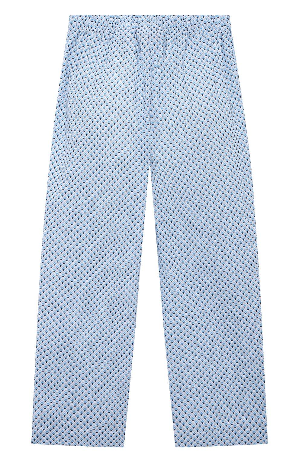 Детская хлопковая пижама DEREK ROSE голубого цвета, арт. 7025-LEDB040/3-12 | Фото 5