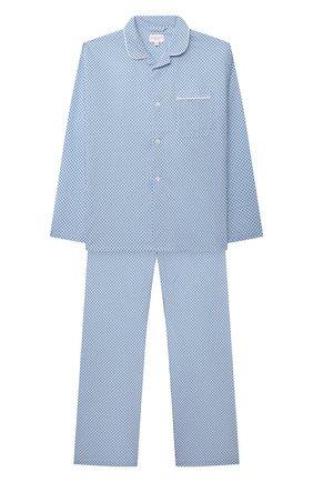 Детская хлопковая пижама DEREK ROSE голубого цвета, арт. 7025-LEDB040/13-16 | Фото 1