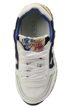 Детские кроссовки PREMIATA WILL BE разноцветного цвета, арт. MICK/12-41538/T0D | Фото 4 (Материал внешний: Текстиль; Материал внутренний: Натуральная кожа; Стили: Гранж)