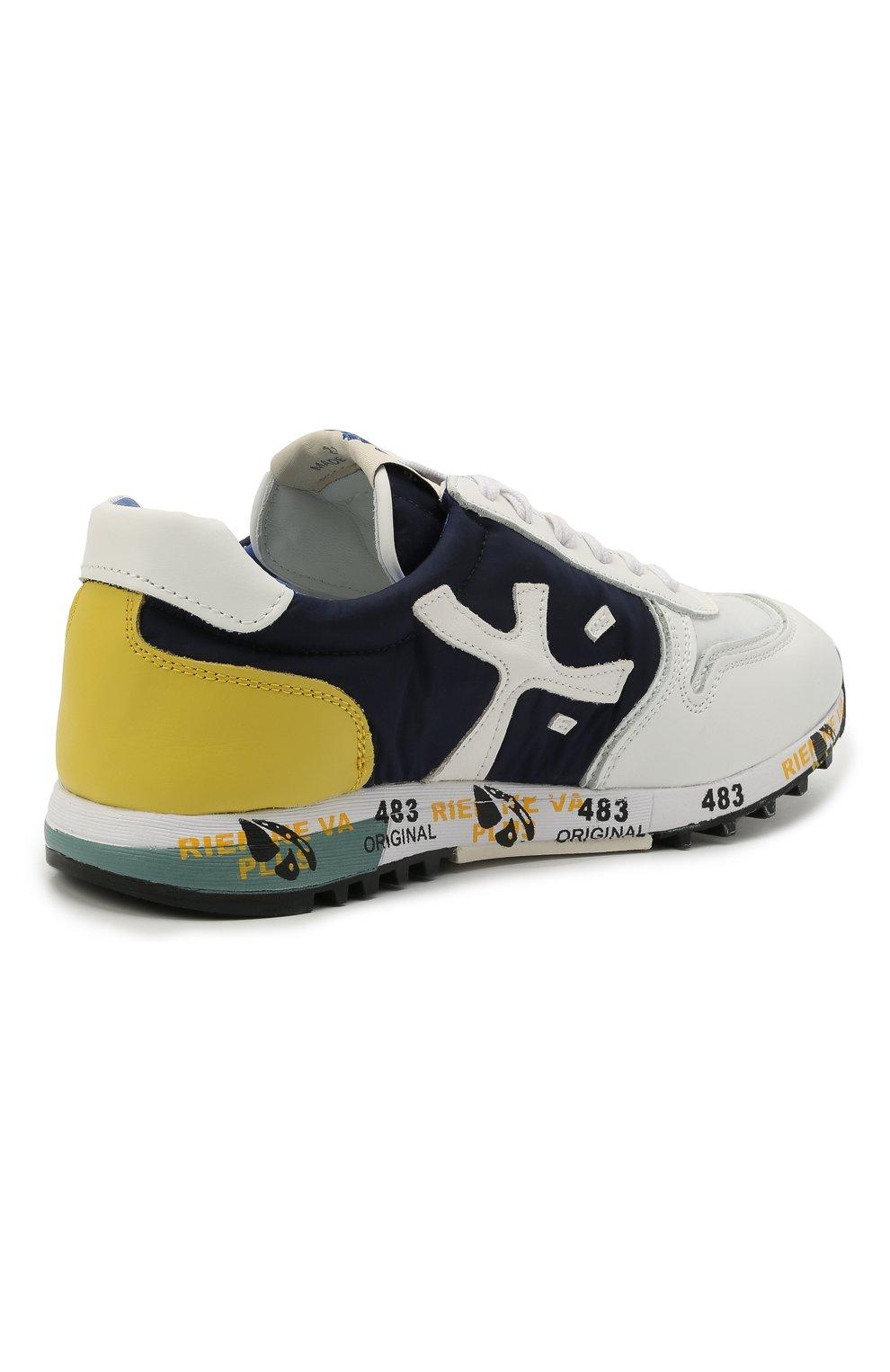 Детские кроссовки PREMIATA WILL BE разноцветного цвета, арт. MICK/12-41538/JUN   Фото 3 (Материал внешний: Текстиль; Материал внутренний: Натуральная кожа; Стили: Гранж)