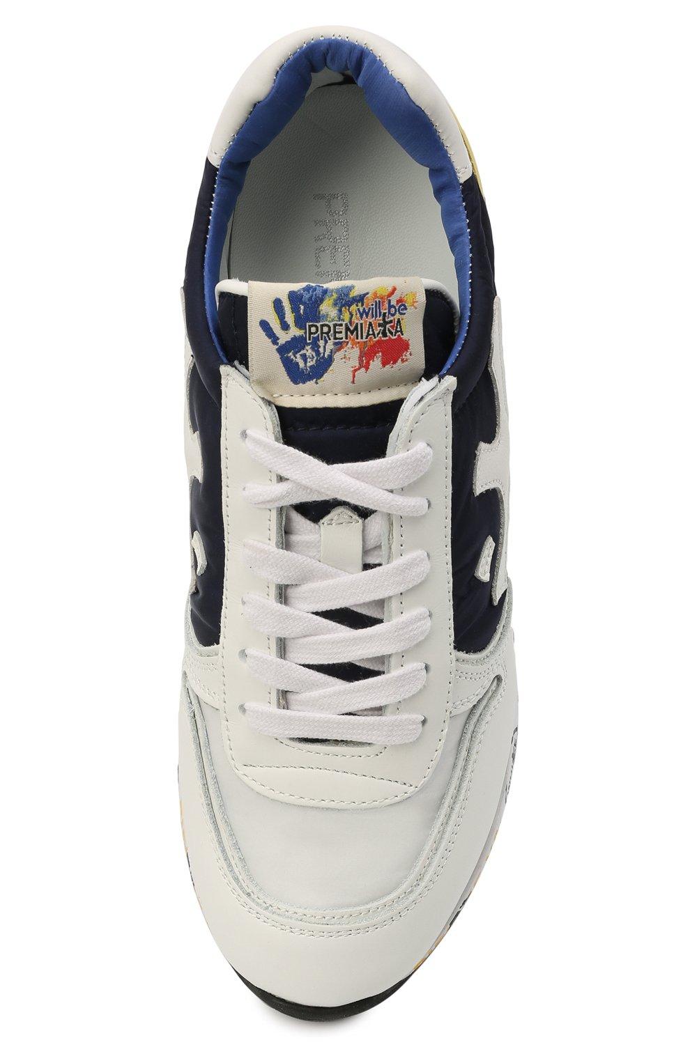 Детские кроссовки PREMIATA WILL BE разноцветного цвета, арт. MICK/12-41538/JUN   Фото 4 (Материал внешний: Текстиль; Материал внутренний: Натуральная кожа; Стили: Гранж)