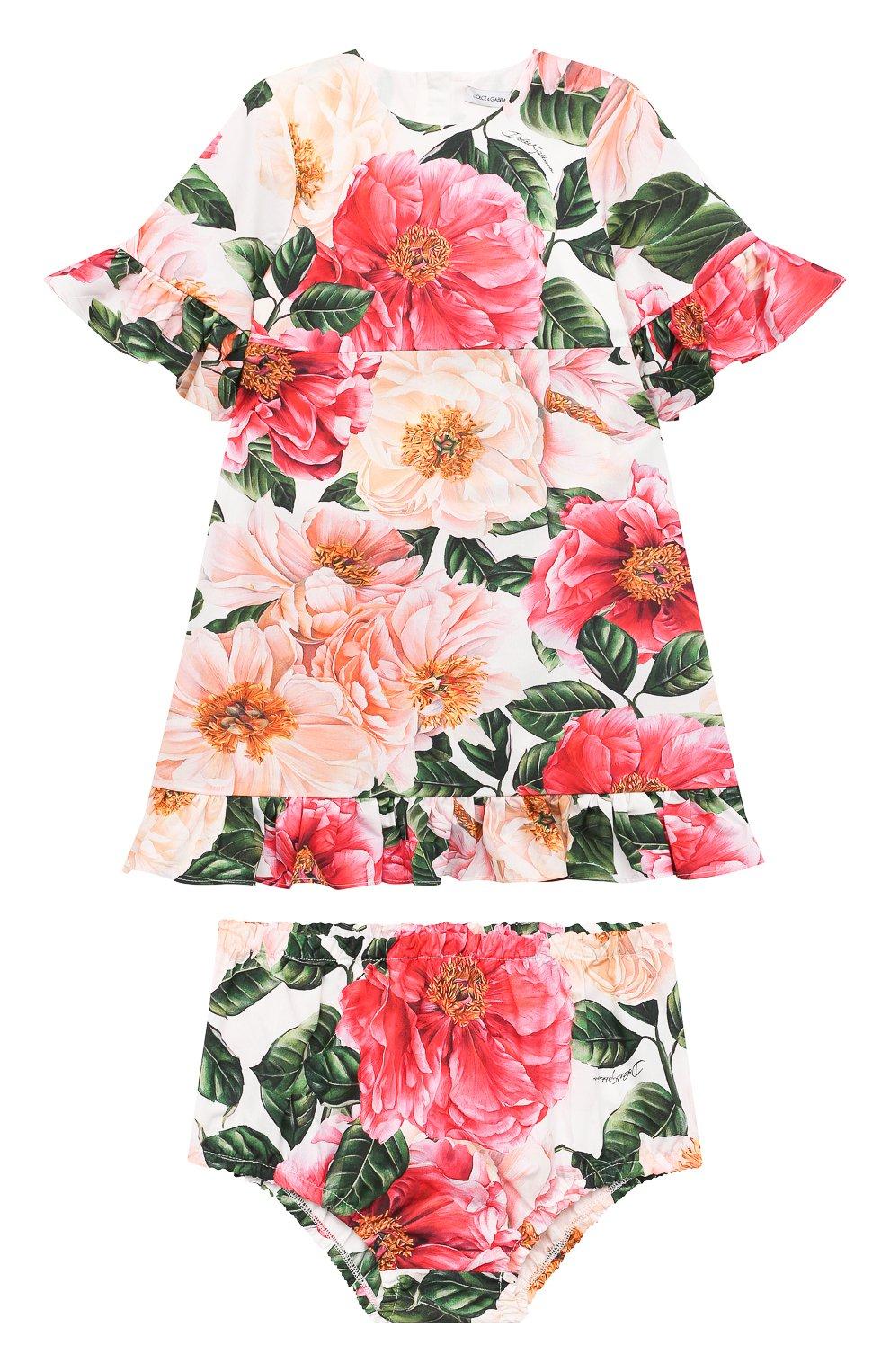 Женский комплект из платья и шорт DOLCE & GABBANA разноцветного цвета, арт. L22DM0/HS5H5 | Фото 1