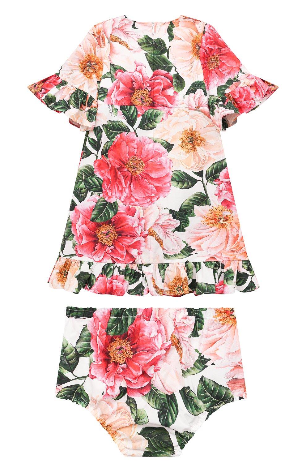 Женский комплект из платья и шорт DOLCE & GABBANA разноцветного цвета, арт. L22DM0/HS5H5 | Фото 2