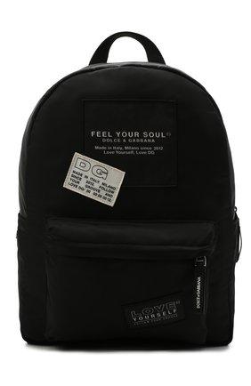 Детская рюкзак DOLCE & GABBANA черного цвета, арт. EM0099/AM477 | Фото 1