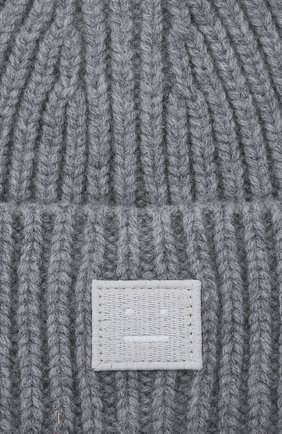 Детского шерстяная шапка ACNE STUDIOS серого цвета, арт. D40006 | Фото 3
