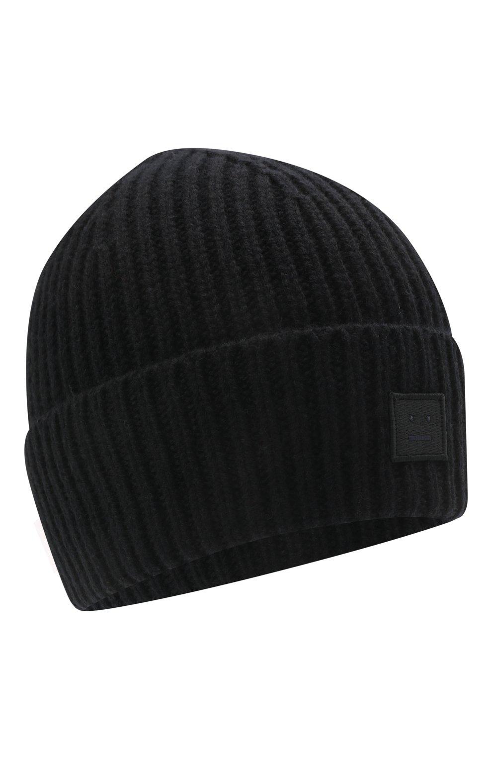 Детского шерстяная шапка ACNE STUDIOS черного цвета, арт. D40006 | Фото 1