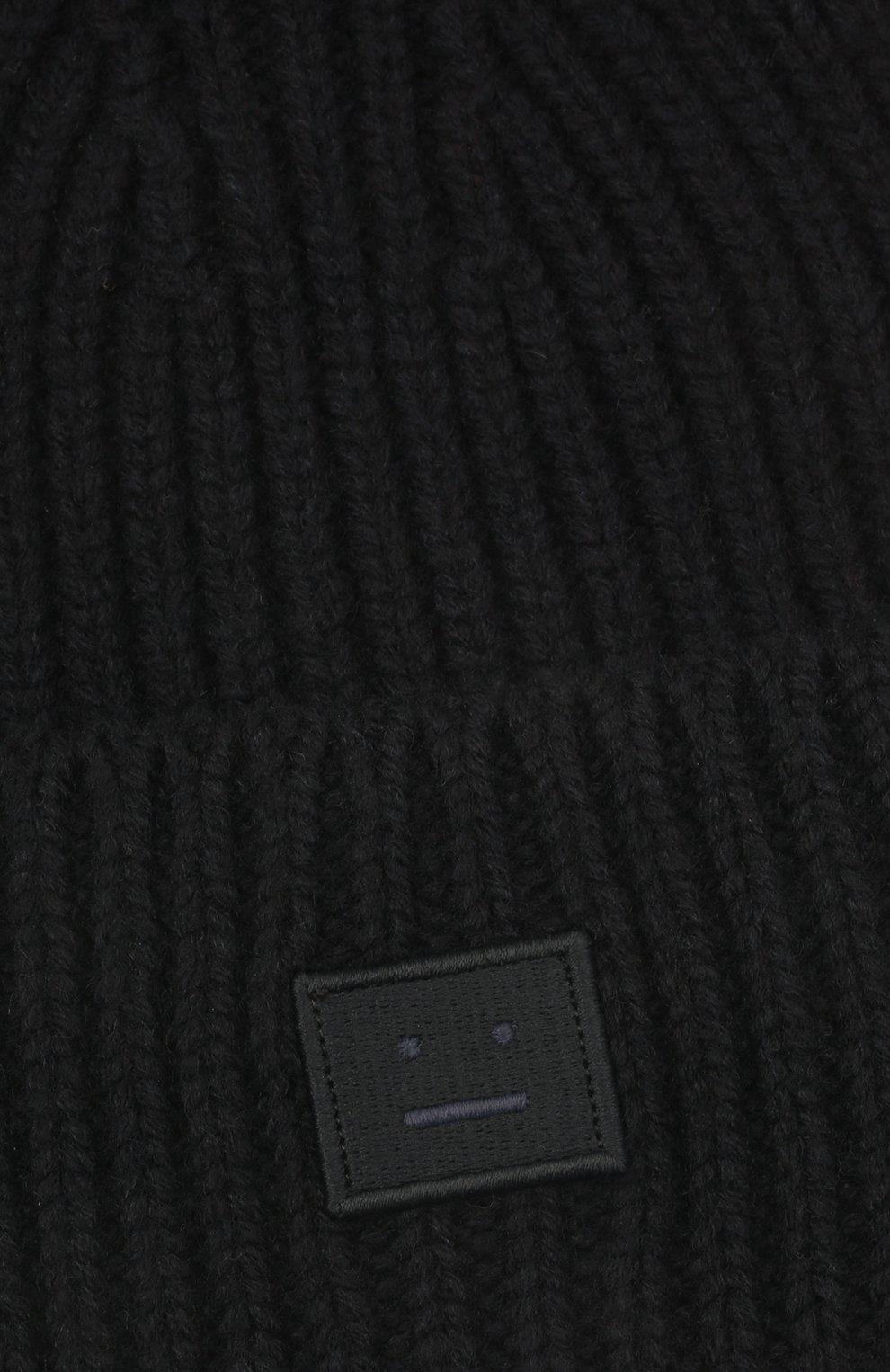 Детского шерстяная шапка ACNE STUDIOS черного цвета, арт. D40006 | Фото 3