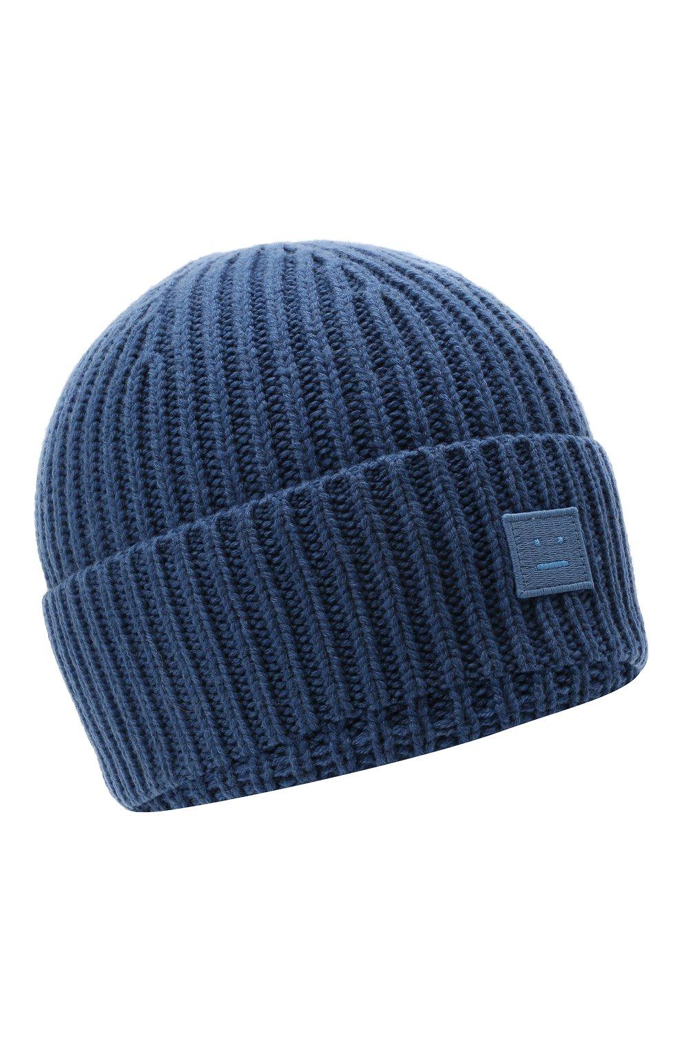 Детского шерстяная шапка ACNE STUDIOS голубого цвета, арт. D40005   Фото 1