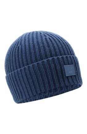 Детского шерстяная шапка ACNE STUDIOS голубого цвета, арт. D40005 | Фото 1