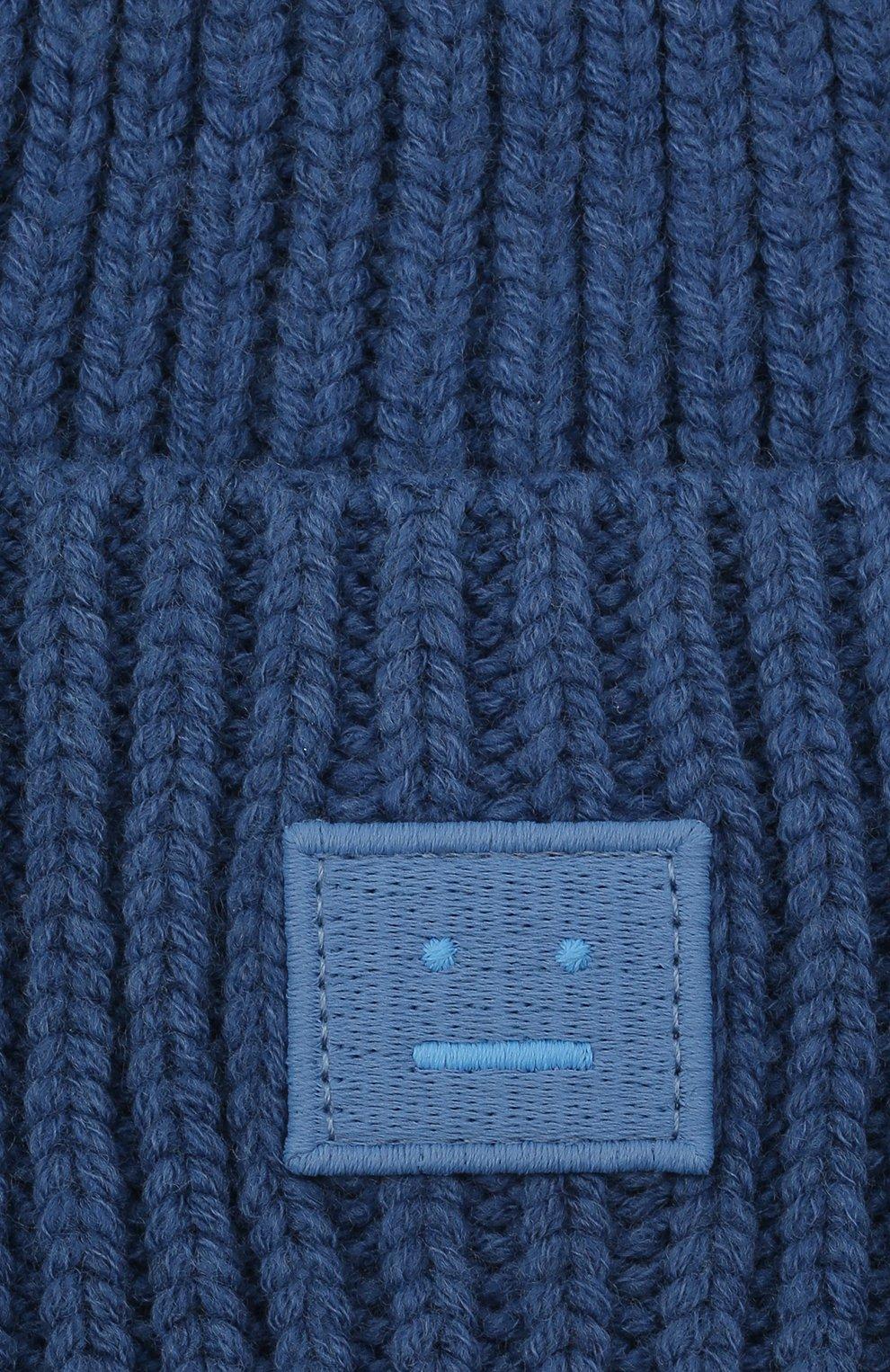 Детского шерстяная шапка ACNE STUDIOS голубого цвета, арт. D40005   Фото 3