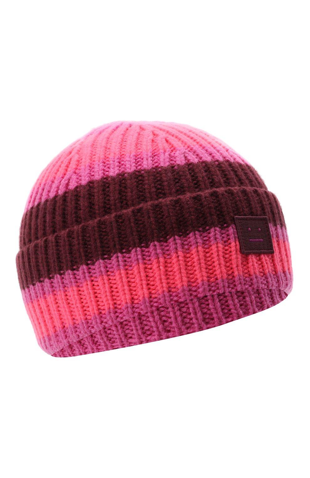 Детского шерстяная шапка ACNE STUDIOS розового цвета, арт. D40004 | Фото 1