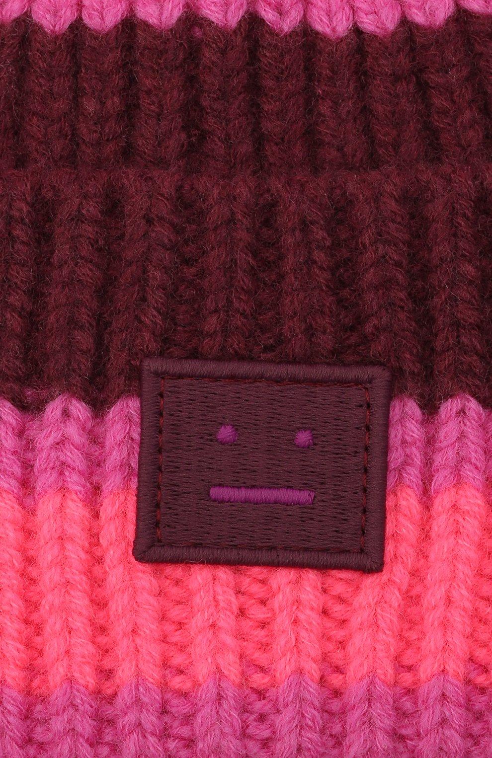 Детского шерстяная шапка ACNE STUDIOS розового цвета, арт. D40004 | Фото 3