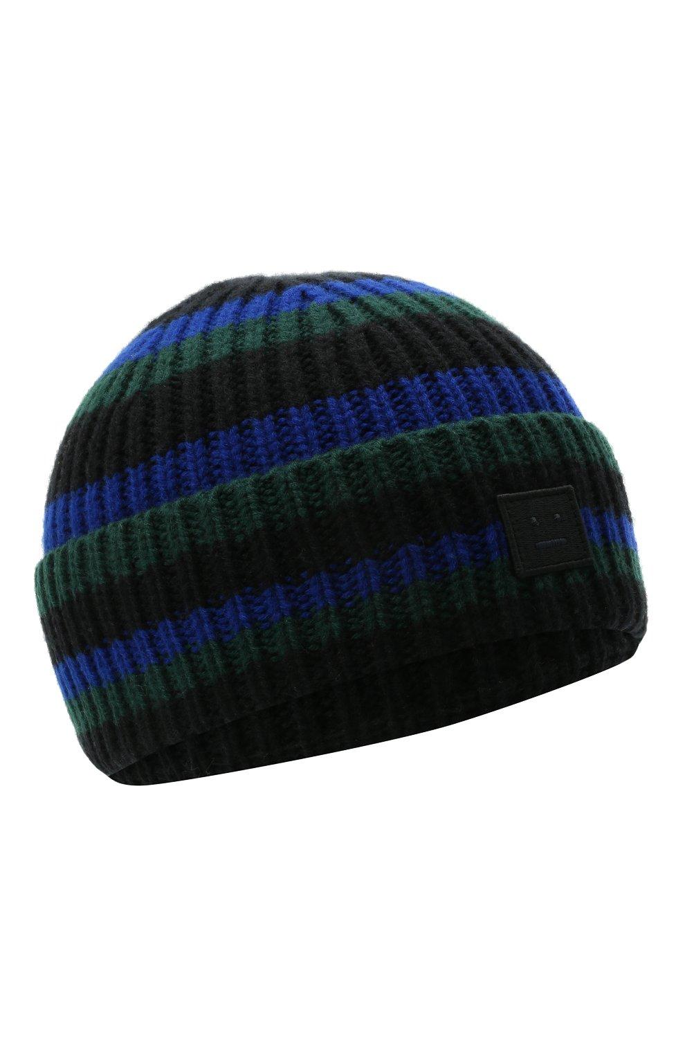 Детского шерстяная шапка ACNE STUDIOS черного цвета, арт. D40004 | Фото 1